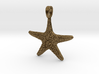 Starfish Symbol 3D Sculpted Jewelry Pendant 3d printed