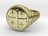 DIOMEDE Ring 3d printed DIOMEDE Ring in 18k Gold Plated