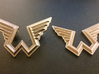 Wings Logo Keychain 3d printed