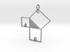 Pythagorean Pendant 3d printed