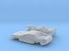 DeLorean Time Machine Train/Car N 1:160 V.1 3d printed