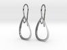 Curve Pear Earrings 3d printed