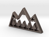 Mountain Treetops Pendant 3d printed