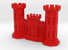 US Army Engineer Castle Business Card Holder 3d printed
