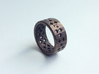Plus Pattern Ring 3d printed Antique Bronze Glossy Steel