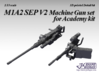 1/35 M1A2 SEP V2 Machine Gun set 3d printed
