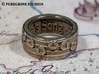 Ring - Epona's Song 3d printed Stainless Steel