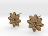 Floral Stud Earrings 3d printed