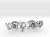 "Hebrew Cufflinks - ""Shabbos Kodesh"" 3d printed"