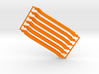 6 short orange, sprued 3d printed