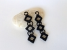 Diamond Drop Earrings 3d printed Black Diamond Earrings