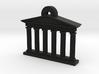 Mini Greek Temple Keychain 3d printed