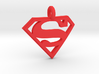 Superman Keychain 3d printed