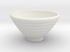 DRAW bowl - ceramic ribbed 3d printed