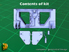 2S7 PION Rear Wall Update set (1:35) 3d printed 2S7 PION Rear Wall Updat set - parts