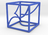 Space Curve in a Cube and Projections 3d printed