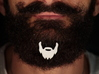 Beard icon with mustace for beard - front wearing 3d printed