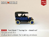 Ford Model T - closed roof (British N 1:148) 3d printed