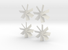 Four Propellers Left & Right 7-Blade and Left & Ri 3d printed