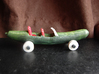 Cucumber Car 3d printed Coated Full Color Sandstone