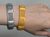 Viking Module Bracelet 1 3d printed White and yellow, painted silver and gold with rhinestone crystals added