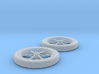 1/32 Spindle Mount Drag Tire And Wheel 3d printed
