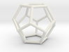 Dodecahedron with nubs 3d printed