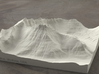 6'' Mt. Wilbur, Montana, USA, Sandstone 3d printed Radiance rendering of model, viewed from the South.