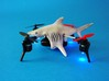 Shark case for Micro Drone 3 3d printed Shark case for Micro Drone- 3D printed in white nylon- Kai Bracher