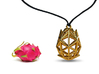Poly Dragon Fruit Jewel 3d printed Necklace Mode