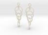 Ring Earrings (rotating) 3d printed