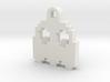 Pac Man Ghost 8-bit Earring 2 (looks down) 3d printed