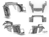 Sand Scorcher Inner Arches, Rear 3d printed Rear Inner Arch designs with options parts