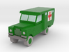 1/152 Land Rover S2 Ambulance x1 - Army, Green 3d printed Land Rover ambulance, army green
