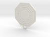 Dharma Fan Keychain 3d printed