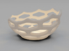 Coral style tea light bowl Ø10cm 3d printed 3D Render
