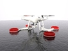 Triskel - SAR Floating System for DJI Phantom 4 3d printed Float for Drone