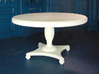 1:24 Round Colonial Dining Table 3d printed Printed in White, Strong & Flexible