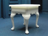1:24 Queen Anne Tall End Table 3d printed Printed in White Strong & Flexible