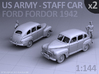 American Staff Car 1942 - (2 pack) 3d printed