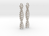 Dimeric coiled coil earring 3d printed