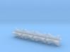 1/25 4 Inch Muffler Clamps 3d printed