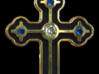 Greek Cross 2 3d printed Cross Rendering in gold - Stones and Color Finish not included