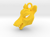 Plastic Thylacine Pendant 3d printed