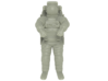 NASA Astronaut with space shuttle EMU suit (1:72) 3d printed