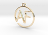 A & F Monogram Pendant 3d printed