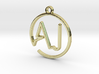 A & J Monogram Pendant 3d printed