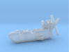 S.S. Zero 1/350 Scale with Display Stand 3d printed Gondola detail.
