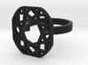 Square diamond ring 3d printed
