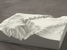 6'' Black Canyon of the Gunnison, CO, Sandstone 3d printed Radiance rendering of model, viewed from the West